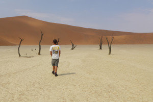 Ha tenido la oportunidad de viajar a países muy diferentes. En la imagen, en Namibia.