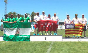 El equipo andaluz en el podio.