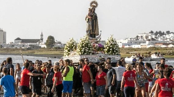 La barriada ayamontina de Canela celebra con intensidad las fiestas en honor a la Patrona de los Marineros