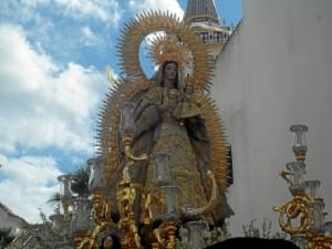 La Virgen del Valle durante su Coronación Canónica.