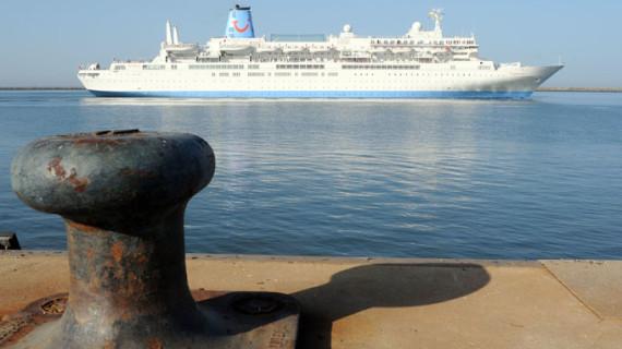 Más de un millar de turistas ingleses conocen Huelva gracias a la escala del Thomson Spirit