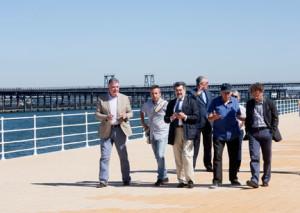 Los representantes institucionales han visitado el Paseo.