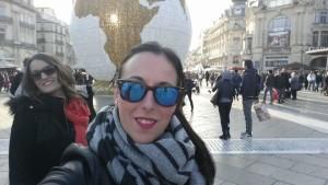 Cristina, con su amiga Anabel las pasadas navidades en Montpellier.