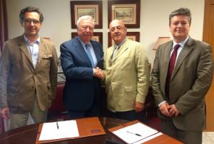 Pedro Parias, José Luis Garci?a Palacios, José Manuel Cepeda y Guillermo Te?llez.