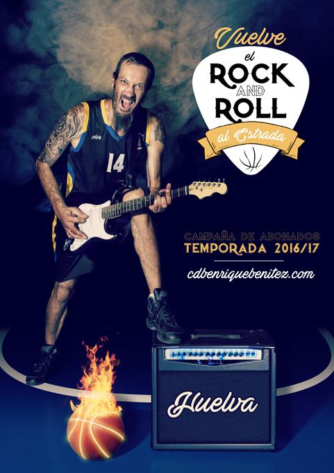 ¡Vuelve el Rock & Roll al Estrada!, slogan de la nueva campaña de abonados del C.D.B. Enrique Benítez