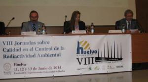 Juan Pedro, a la derecha, en las VIII Jornadas sobre Calidad en el Control de la Radiactividad Ambiental.