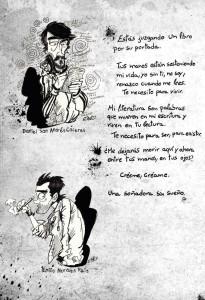 Uno de los dibujos realizados por Emilio Morales.