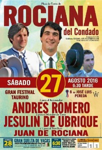 Cartel Festival Taurino Feria 2016.