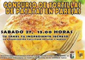 Concurso de tortilla de patatas en pareja.