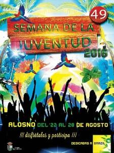 Cartel de la Semana de la Juventud de Alosno.