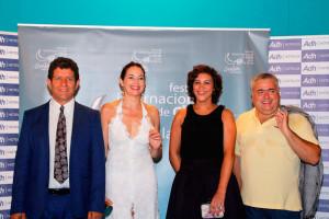 Miembros del Jurado Oficial de la muestra: Los actores Cuca Escribano y Pedro Casablanc, la productora Agus Jiménez y el realizador Jaime Vicent.