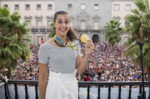 Carolina Marín estará el miércoles en la inauguración del rótulo con su nombre en el Palacio de Deportes.