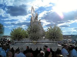 La Virgen de los Clarines protagoniza en Beas las fiestas de agosto.