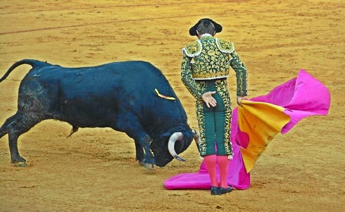 """Julián López """"El Juli"""", durante su faena en la Merced."""