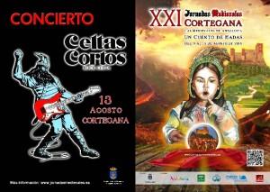 El mítico grupo nacional Celtas Cortos ofrecerá un concierto en la noche del sábado 13 de agosto.