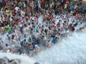 Fiesta de la Espuma en La Redondela.
