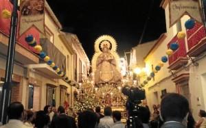 La Virgen del Valle, Patrona de la Palma del Condado, es otra de las protagonistas de las Fiestas Agosteñas.
