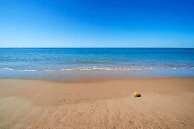 Playa onubense de El Rompido.