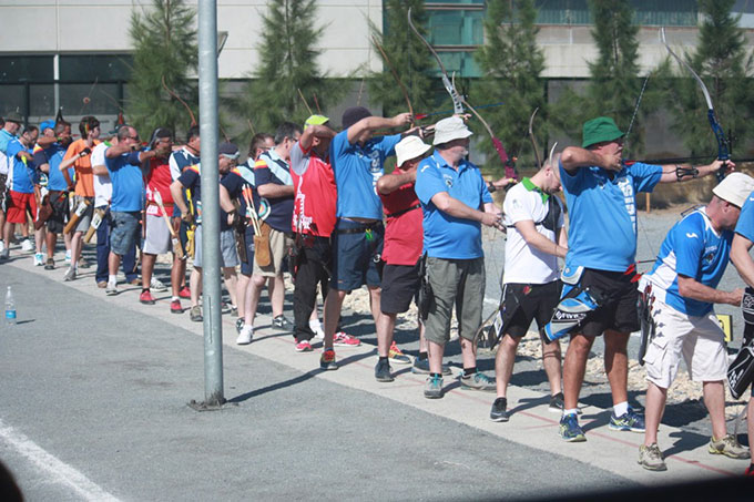 Un momento del torneo de tiro con arco celebrado el pasado fin de semana.