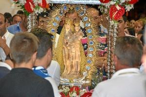 El domingo 28 de agosto procesiona la patrona de Palos por La Rábida.