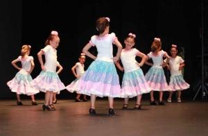 Las niñas de la academia de baile.