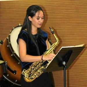 María Domínguez Ramos se inició con el saxofón a los 10 años.