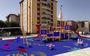 Así quedará la zona de juegos del Parque de la Luz.