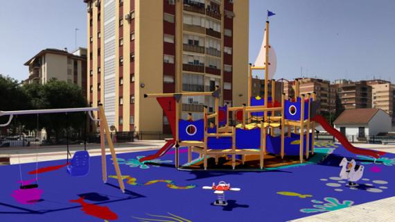 Las áreas infantiles del Parque de la Luz y la Plaza del Andévalo de Huelva se renovarán en octubre