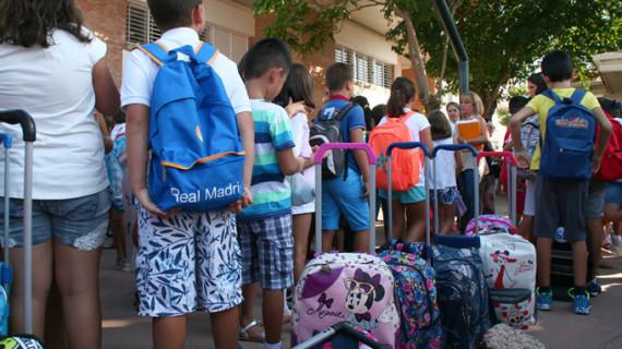 Unos 2.200 niños vuelven a las aulas en Cartaya