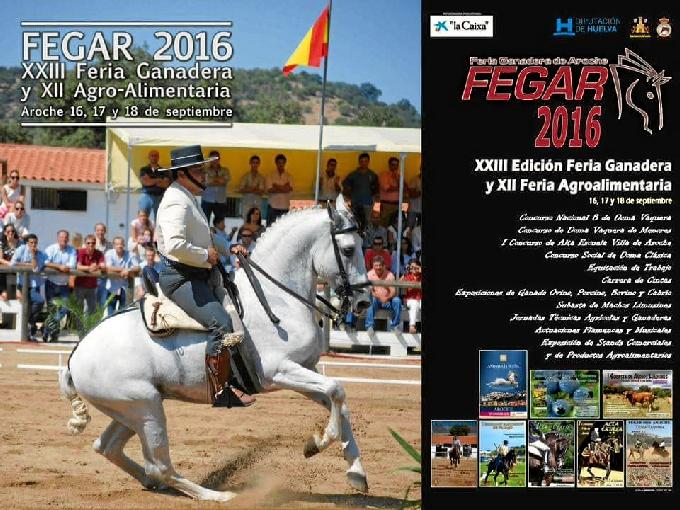 Cartel de Fegar 2016, que se celebra en Aroche del 16 al 18 de septiembre.