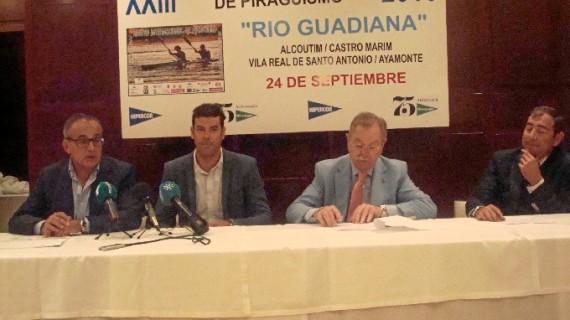 El puerto deportivo de Ayamonte, meta de la XXIII Regata Internacional de Piragüismo Río Guadiana