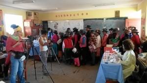 Trabajando en la zona de Yuyos con Cáritas Perú
