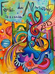 Cartel del Feria de Almonte 2015, realizado por Mónika Torres.