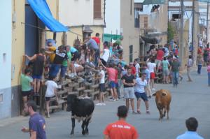 Las capeas son otra de las tradiciones de estas fiestas.