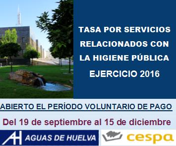 Abierto el periodo voluntario de pago de la tasa por servicios relacionados con la higiene pública