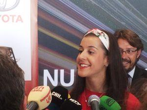 La sonrisa de Carolina Marín en un acto del pasado viernes.