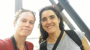 Cristina y Arantxa han venido a Huelva desde Guadalajara atraídas por el Dolmen de Soto.