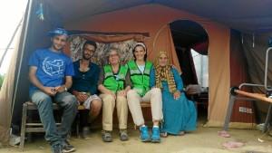 Un momento en el campamento de refugiados.