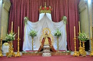 Conmemoración del 546 aniversario de la imagen de la Virgen de Montemayor.
