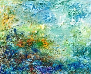 Obra Mapa Azul, inspirada en las playas de Huelva. 2016.
