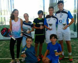 Representantes onubenses en el torneo celebrado en Sevilla.