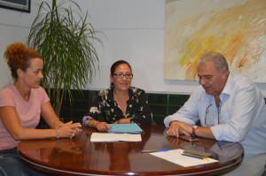 La alcaldesa se ha reunido con Manuel Piedra.
