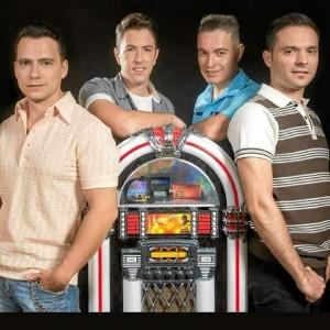 Componentes de la banda onubense 'The Dreamers'.