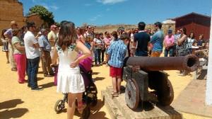 Visita el Castillo de Moguer el año pasado.