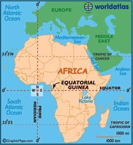 Mapa de la ubicación de Guinea Ecuatorial. / Foto: www.worldatlas.com