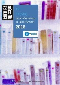 Cartel del XVI Premio de Investigación Diego Díaz Hierro.