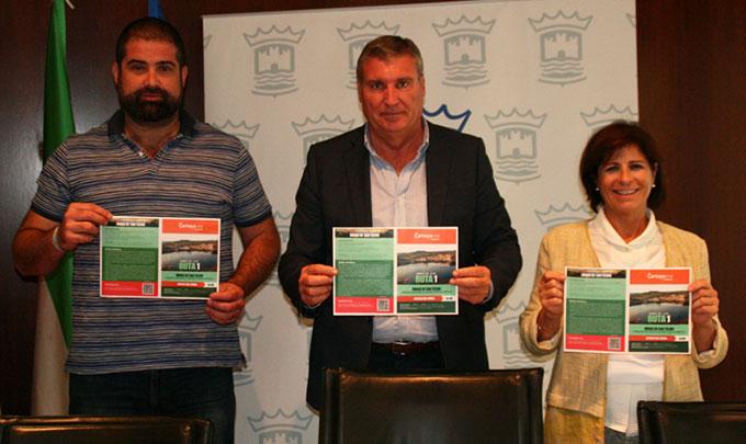 Momento de la presentación del programa 'Deporte en la Naturaleza' del Ayuntamiento de Cartaya.