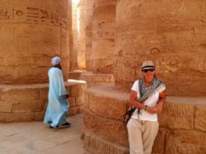 Inés García se unió al proyecto en Luxor en el año 2010. En la imagen,en el Templo de Karnak.