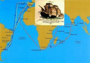 Mapa de las rutas realizadas por Diego García. / Foto: wikanda.