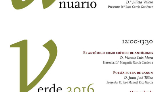 'Anuario Verde', una cita con la poesía en la Facultad de Humanidades de la Universidad de Huelva